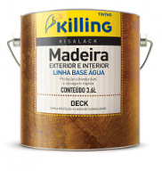 VERNIZ P/DECK INCOLOR BASE AGUA KISALACK 3,6L - KILLING