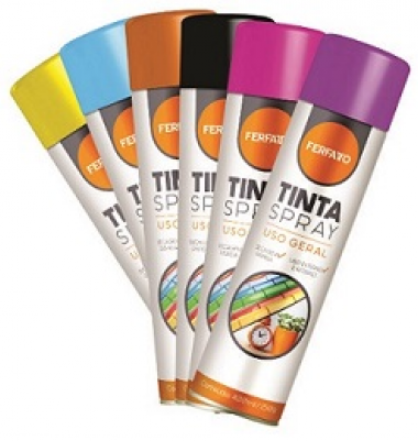 TINTA SPRAY U.GERAL GRAFITE 400ML - FERFATTO -ONU1950GREMBII