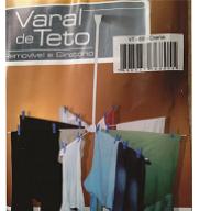 VARAL TETO GIRATORIO REM 77X128CM CROMADO - MAVE