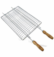 GRELHA DUPLA CHURRASCO 700X350X50MM - QUALINOX