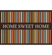 Tapete Para Porta de Entrada Home Sweet Home Listras 40X60cm Kapazi
