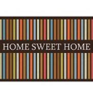 CAPACHO HOME SWEET HOME LISTRAS 40X60 - KAPAZI