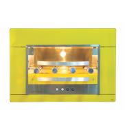 Churrasqueira Assador Gás Embutir Amarelo 4 Espetos GLP Titan