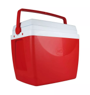 Caixa Térmica / Cooler 34 Litros Vermelha Mor