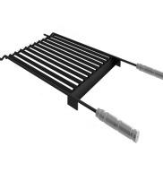 Grelha Profissional Steel Flon Coletor 450mm Qualinox