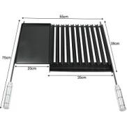 GRELHA PROF. STEEL FLON C/COLETOR 60X75 - QUALINOX
